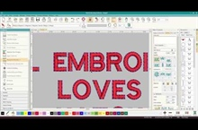 Create Outlines in Hatch Embroidery Digitizing