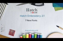 Hatch Embroidery 2.1 – 7 New Fonts